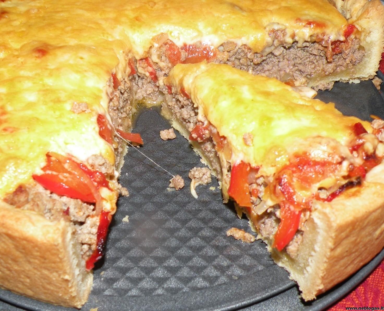 Mėsos tortas su Čedario sūriu